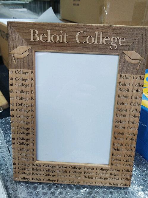 "College Store 5"" x 7"" Red Alder Picture Frame"