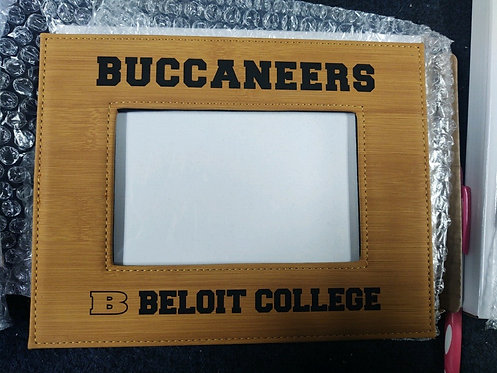 "College Store 4"" x 6"" Bamboo Laserable Leatherette Photo Frame"