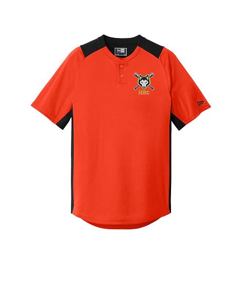 Harlem Huskies Embroidered Orange/Black Diamond Era 2-Button Jersey