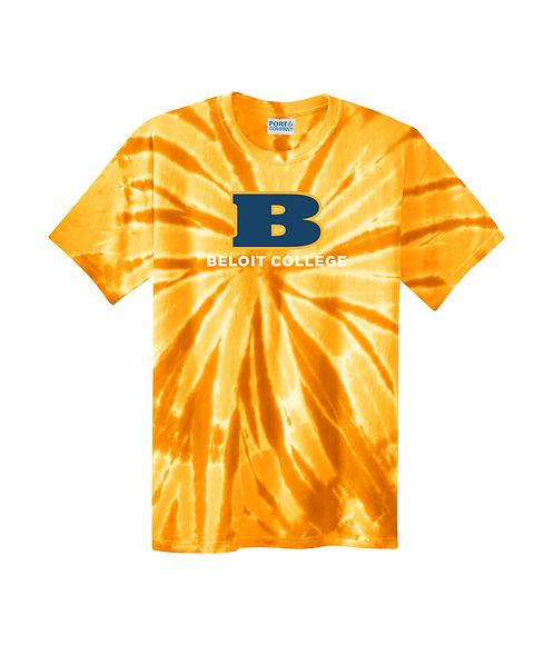 Beloit College Gold Port & Company Tie-Dye Tee