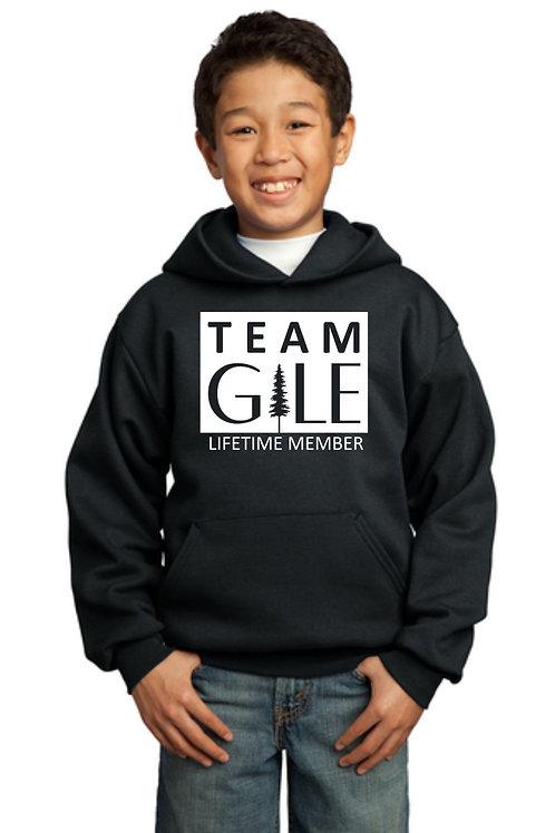 TEAM GILE- Port & Company® Youth Core Fleece Pullover Hooded Sweatshirt