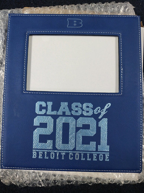 """College Store 4"""" x 6"""" Blue/Silver Leatherette Photo Frame"""