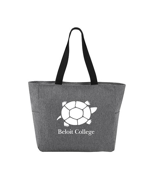 Beloit College Heather Grey Port Authority Essential Zip Tote