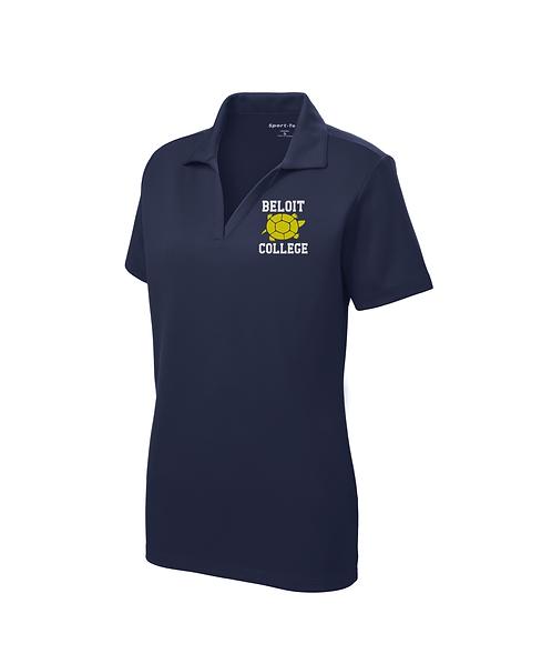 Beloit College & Turtle Graphic Embroidered on Ladies Sport-Tek® RacerMesh® Polo