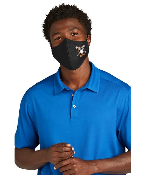 Harlem Huskies ADULT Black Woven Face Mask HBC Logo