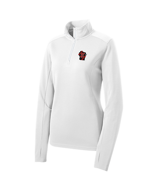 Embroidered Team Heat Ladies 1/4-Zip Pullover