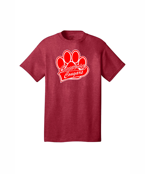 Converse Cougars Paw Print Graphic Unisex Core Cotton Tee