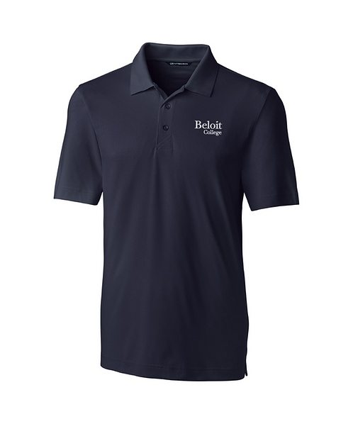 Beloit College Navy Cutter & Buck Forge Stretch Mens Polo
