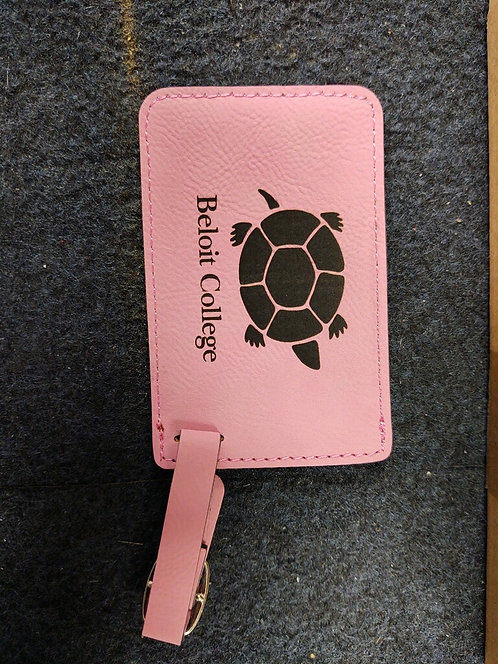 """College Store 4 1/4"""" x 2 3/4"""" Pink Leatherette Luggage Tag"""