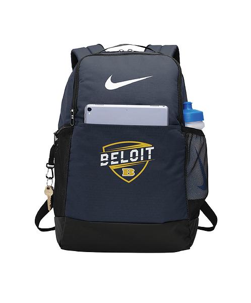Beloit College Embroidered Navy Nike Brasilia Backpack