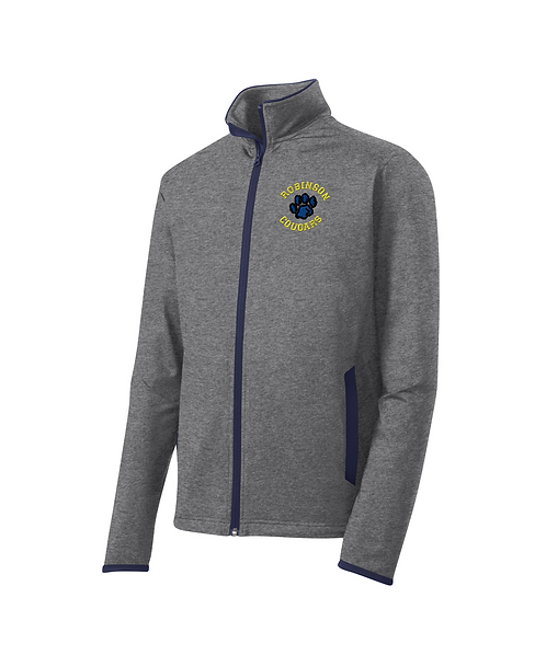 Robinson Staff Embroidered Men's Black Sport-Wick Full-Zip Jacket