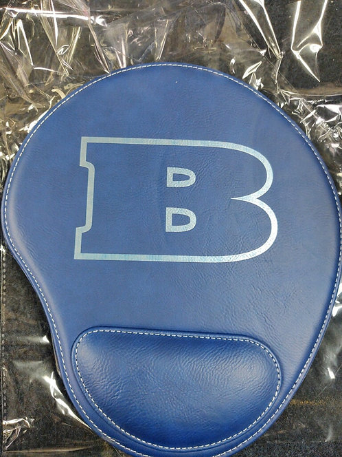 """College Store 9"""" x 10 1/4"""" Blue/Silver Laserable Leatherette Mouse Pad"""