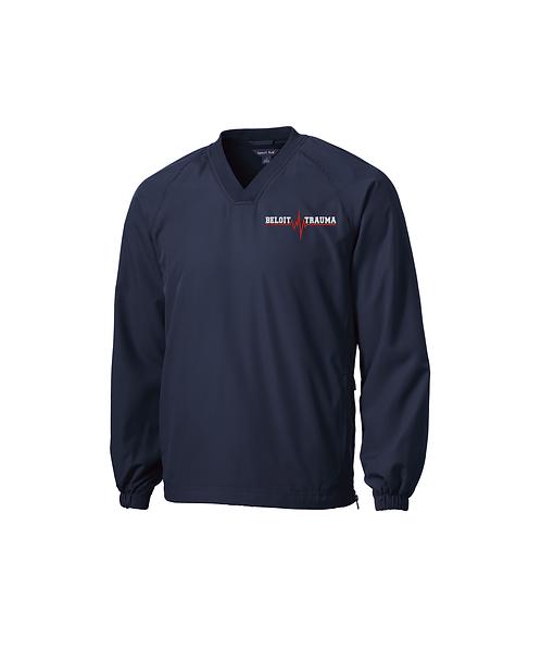 Beloit Trauma Embroidered V-Neck Raglan Wind Shirt