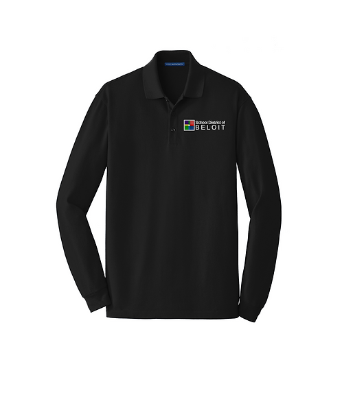 School District of Beloit Embroidered Long Sleeve Polo