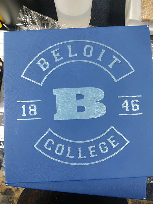 """College Store 10"""" x 10"""" Blue/Silver Laserable Wall Decor"""