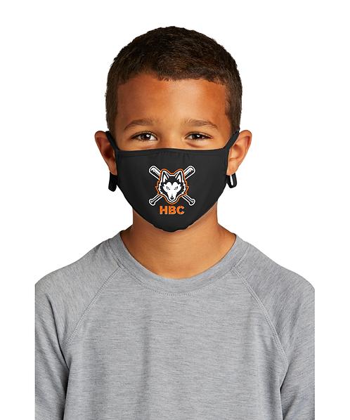 Harlem Huskies YOUTH Black Face Mask HBC Logo