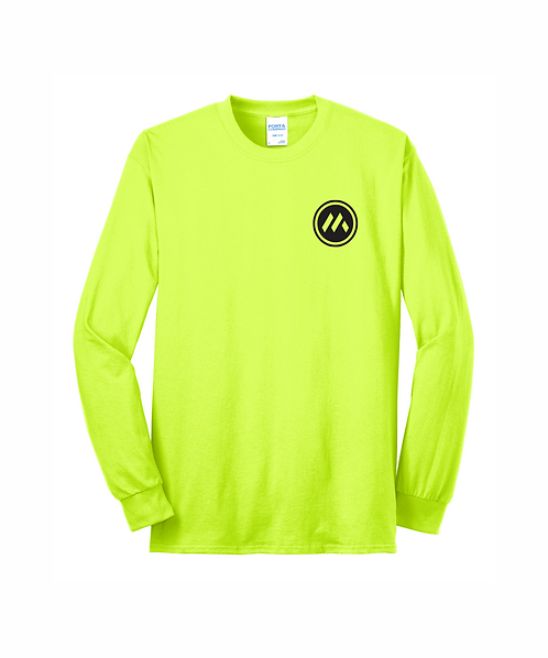 Mid-States Core Blend Long Sleeve Tee w/ Front Pocket & Full Back Logo
