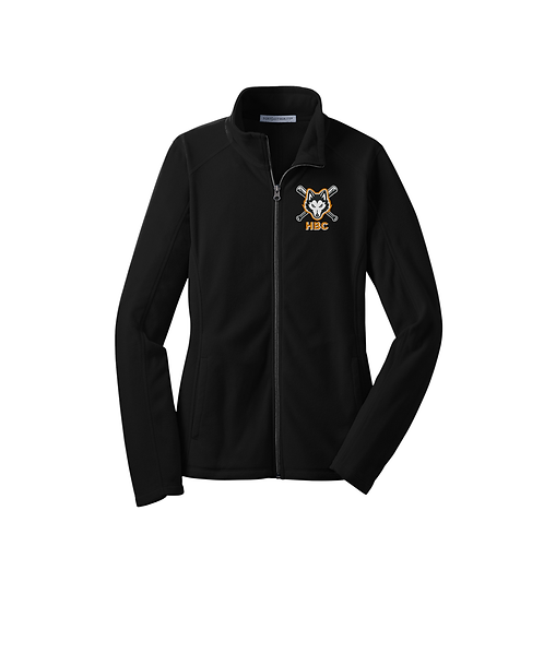 Harlem Huskies Embroidered Black Microfleece Ladies Jacket