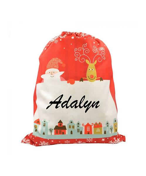 Linen Christmas Bag