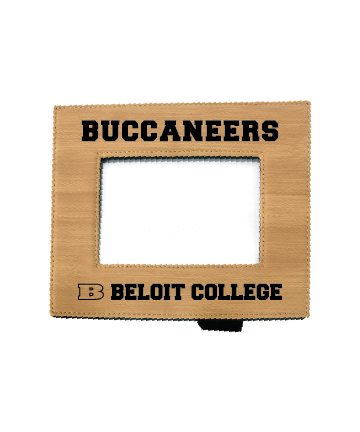 """Beloit College 4"""" x 6"""" Bamboo Leatherette Photo Frame"""