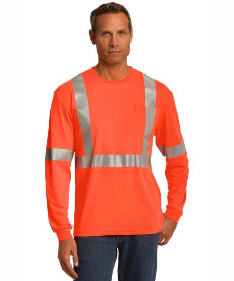 CornerStone® ANSI 107 Class 2 Long Sleeve Safety T-Shirt