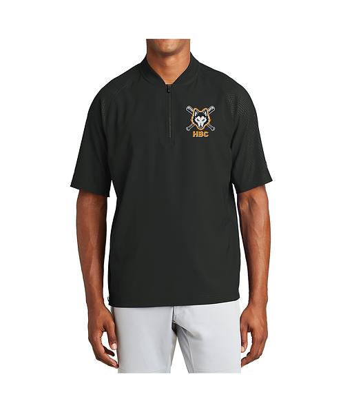 Harlem Huskies Embroidered Black 1/4-Zip Jacket HBC Logo