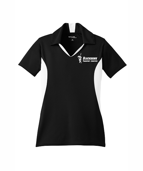 Blackhawk Transport Embroidered Ladies Side Blocked Micropique Sport-Wick Polo