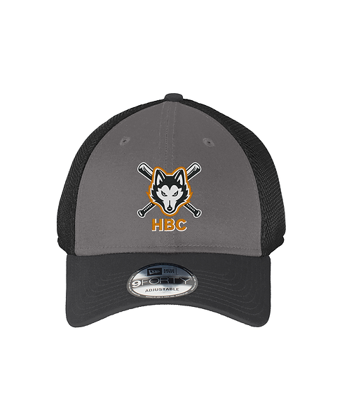 Harlem Huskies Embroidered Charcoal/Black Snapback Cap HBC Logo
