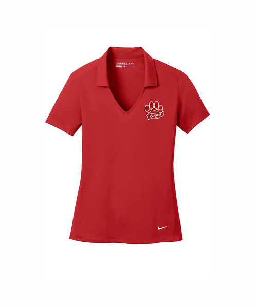 Converse Cougars Embroidered Nike Ladies Dri-FIT Vertical Mesh Polo