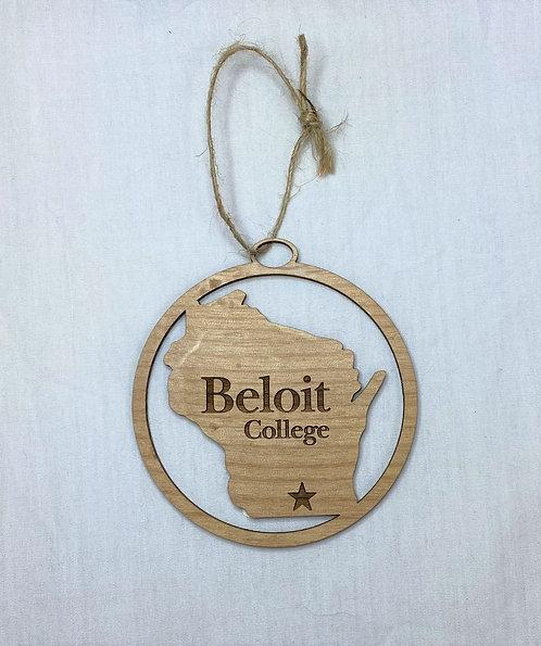 Beloit College Alder Wood Ornaments