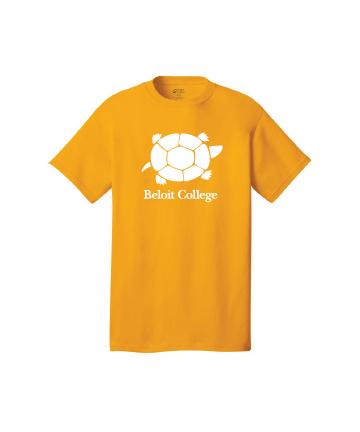 Beloit College Gold Port & Company® Core Cotton Tee w/ Turtle/Beloit College