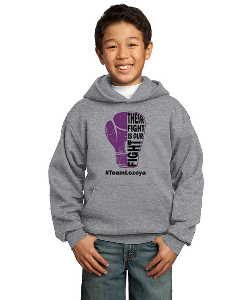 #TeamLozoya Athletic Heather Youth Unisex Pullover Sweatshirt