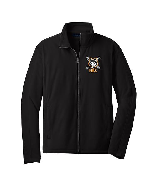 Harlem Huskies Embroidered Black Microfleece Jacket