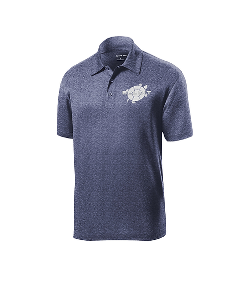 Beloit College Turtle Graphic Embroidered on True Navy Sport-Tek® Polo