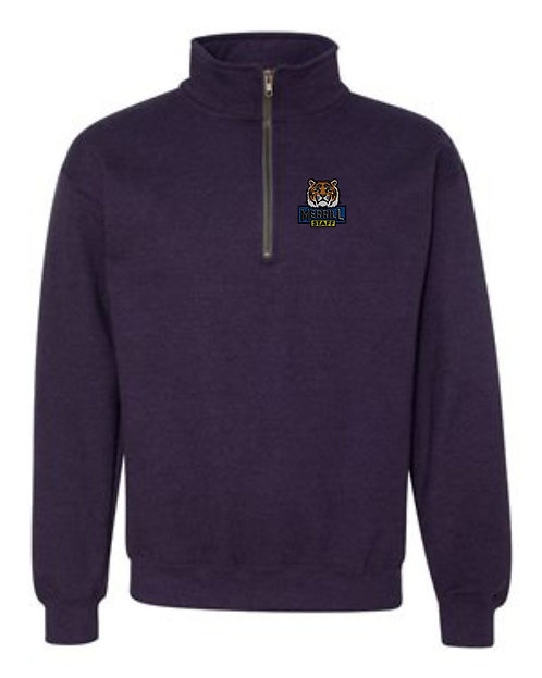Embroidered Merrill Staff Heavy Blend Vintage Quarter-Zip Sweatshirt