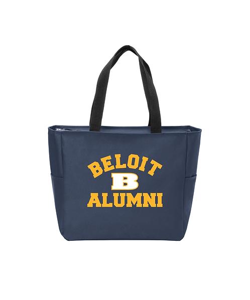 Beloit College Navy Alumni Port Authority Essential Zip Tote