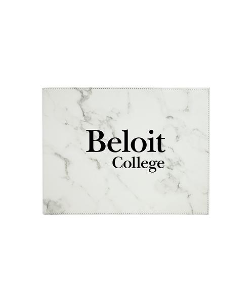 "Beloit College Logo 9""x12"" Leatherette Certificate Holder for 8 1/2""x11"""