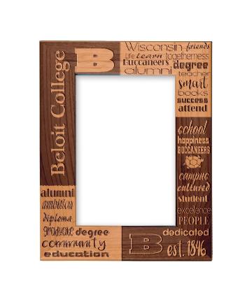 """Beloit College 4"""" x 6"""" Genuine Red Alder Picture Frame"""