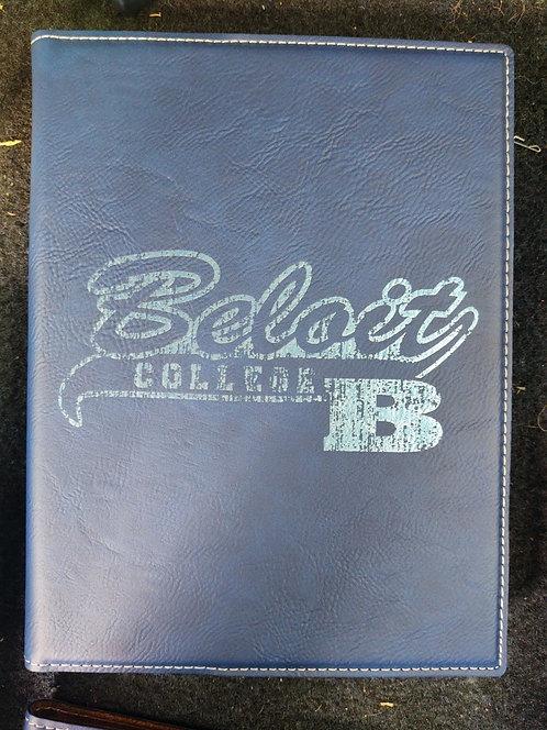 """College Store 7"""" x 9"""" Blue/Silver Leatherette Small Portfolio"""