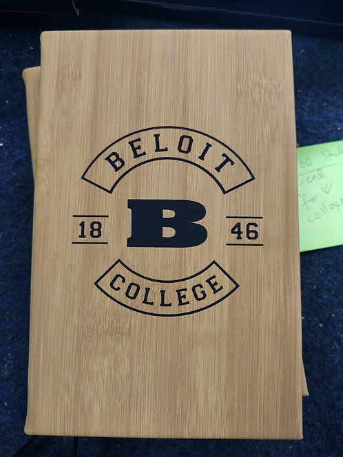 """College Store 5 1/4"""" x 8 1/4"""" Bamboo Leatherette Journal"""