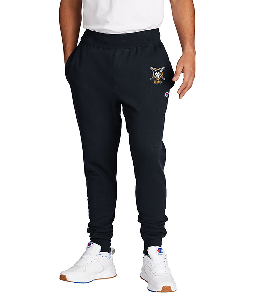 Harlem Huskies Embroidered Black Champion Jogger