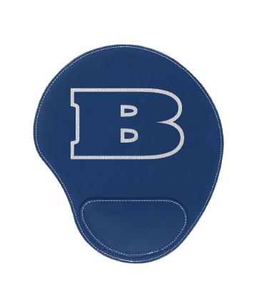 "Beloit College 9"" x 10 1/4"" Blue/Silver Leatherette Mouse Pad"