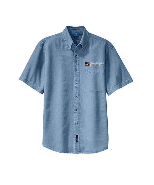 School District of Beloit Embroidered Short Sleeve Value Denim Shirt