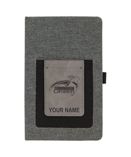 Cunningham Calaviers Gray w/Gray Laserable Leatherette Journal with Cell/Card S