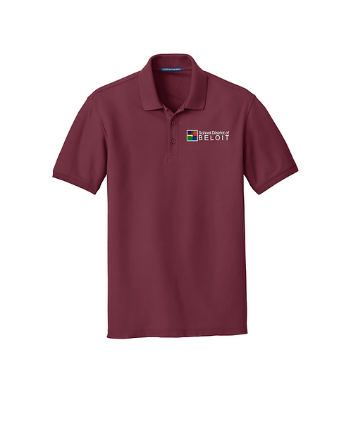 School District of Beloit Embroidered Core Classic Pique Polo