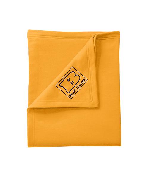 Beloit College Gold Port & Company Core Fleece Sweatshirt Blanket
