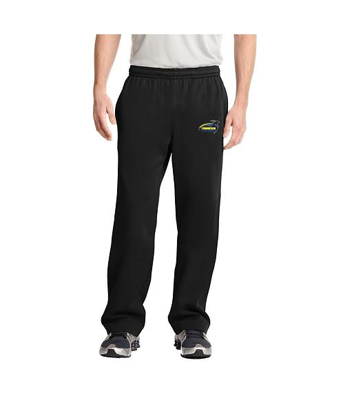 Cunningham Men's Black Embroidered Sport-Wick® Fleece Pant