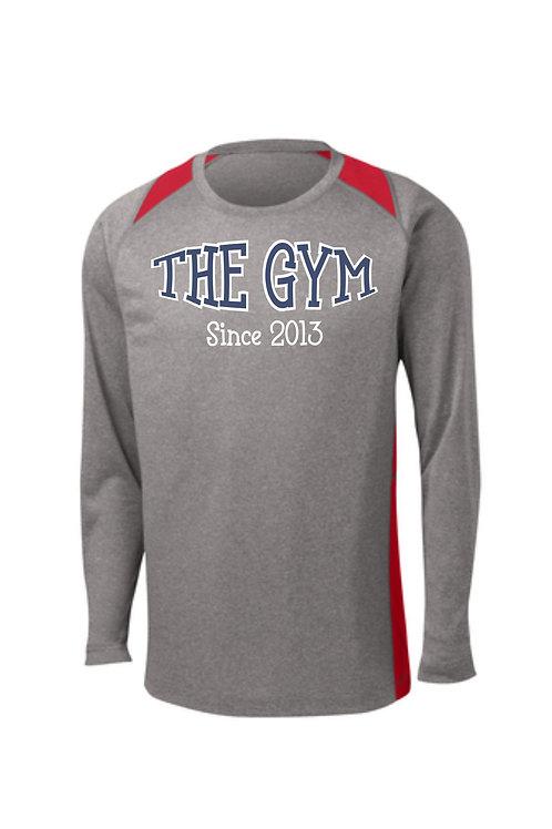 The Gym- Sport-Tek® Long Sleeve Heather Colorblock Contender™ Tee