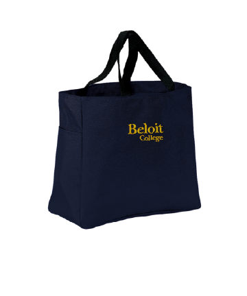 Beloit College Embroidered Navy Port Authority Essential Tote