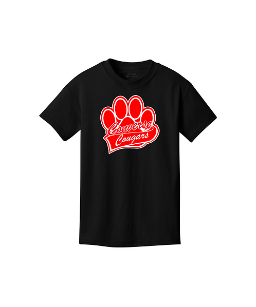 Youth Converse Paw Print Graphic Unisex Core Cotton Tee